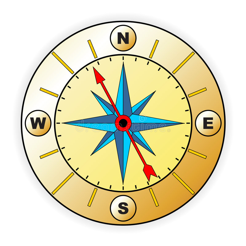 Compass with windrose royalty free illustration