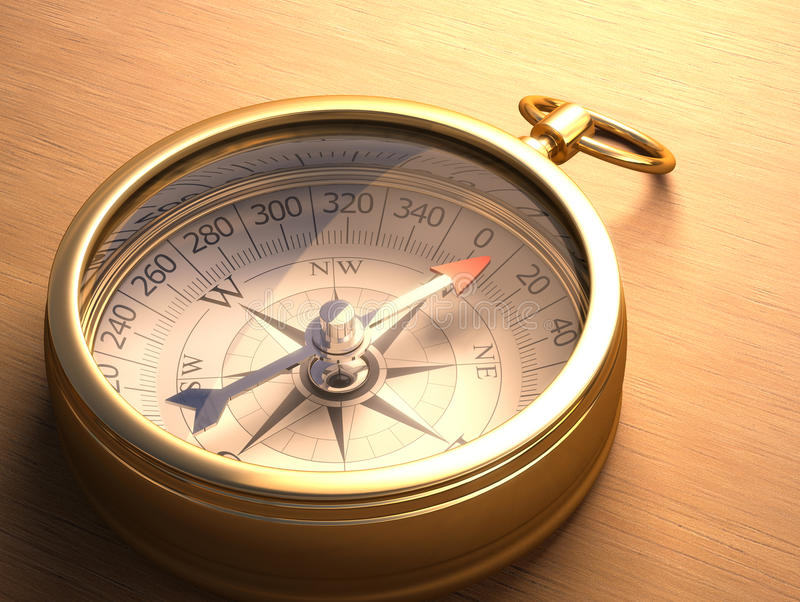 Download Compass stock illustration. Image of direction, table - 39927312