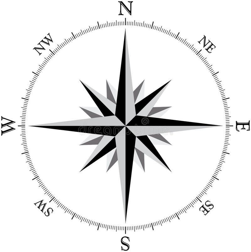 Compass1 (Brujula1) royalty free illustration