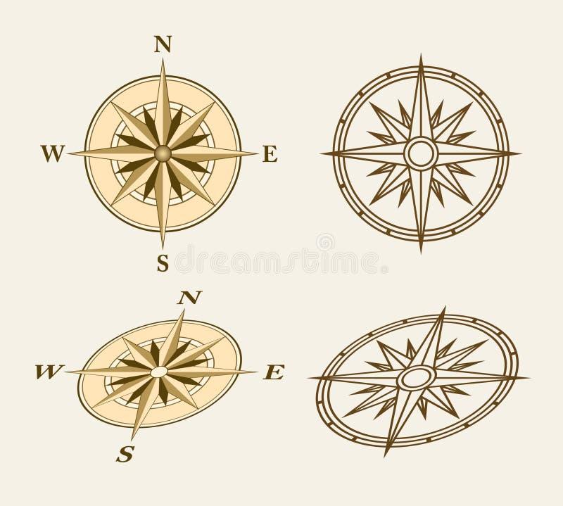 Compasses royalty free illustration