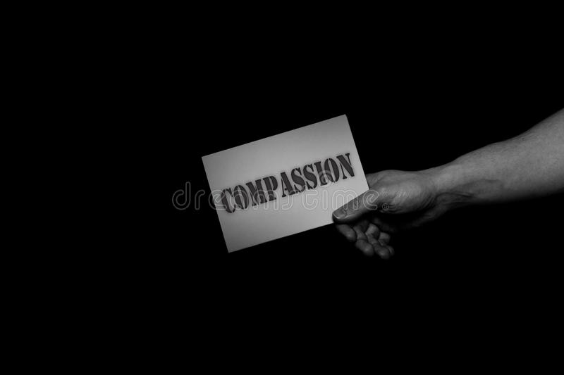Compassion, helping hands concept, offering care, love, hope and support. royalty free stock photography