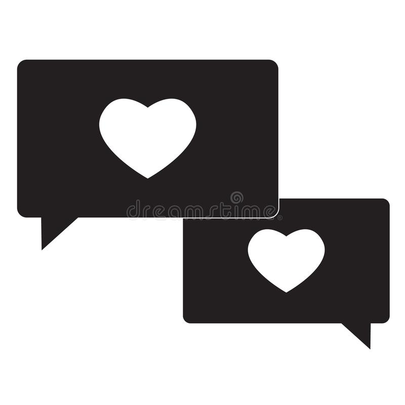 Compassion icon on white background. flat style. speech bubble with heart icon for your web site design, logo, app, UI. compassion vector illustration