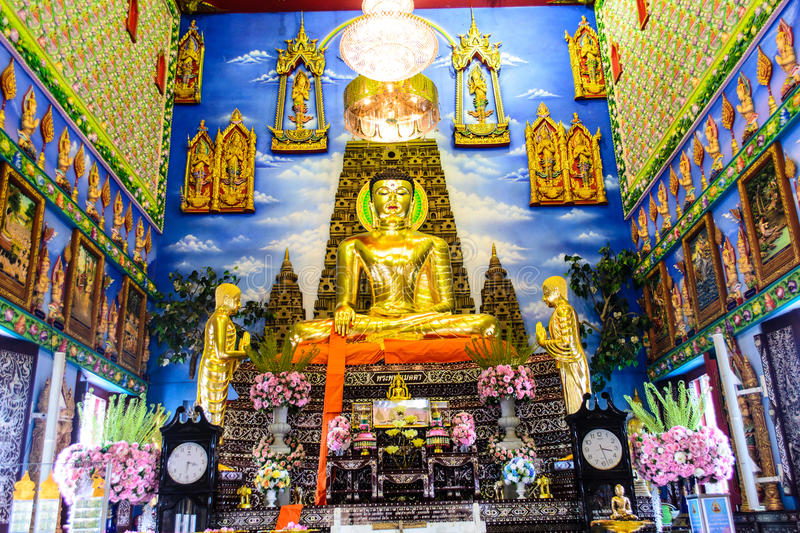Compassionate Buddha temple Buakway royalty free stock images