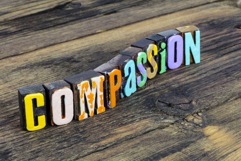 Compassione empatia tolleranza pazienza comprensione amore aiuto sostegno fotografia stock