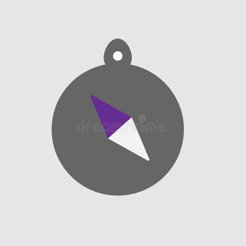 Compasso, ícone da logística Elemento do ícone da entrega e da logística para apps móveis do conceito e da Web Compasso detalhado ilustração do vetor