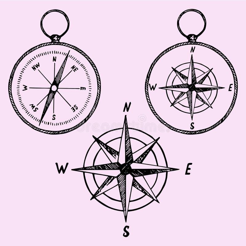 Compasso ilustração royalty free