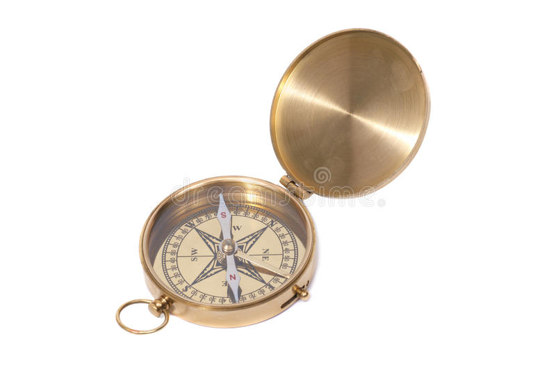 Compasso antigo dourado fotos de stock