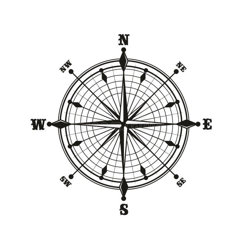 Compasso com seletor, ícone monocromático ilustração royalty free