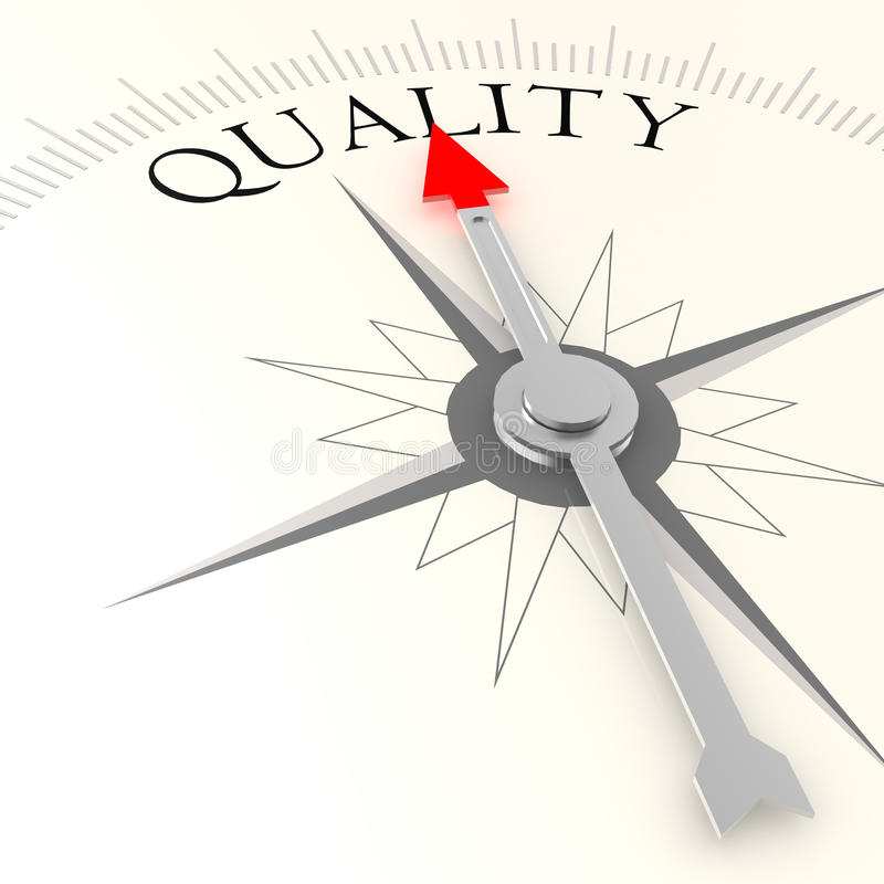 Compasso da qualidade ilustração royalty free