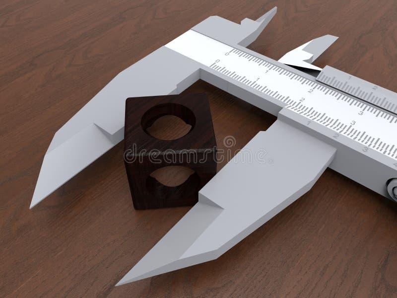 Compasso de calibre - conceito da medida da engenharia ilustração stock