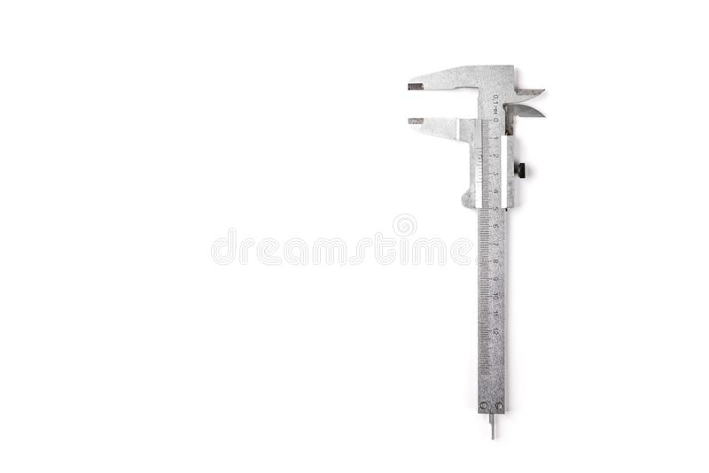 Compasso de calibre isolado no fundo branco fotos de stock