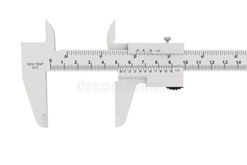 Compasso de calibre vernier do metal fotografia de stock