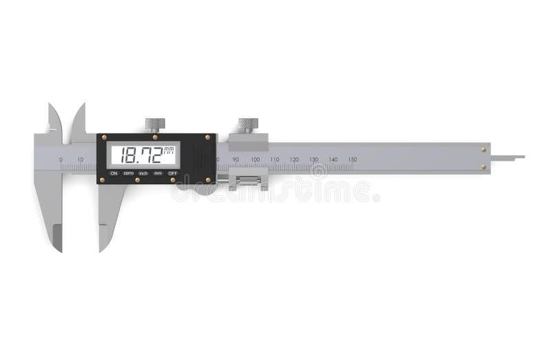 Compasso de calibre vernier eletrônico de Digitas ilustração stock