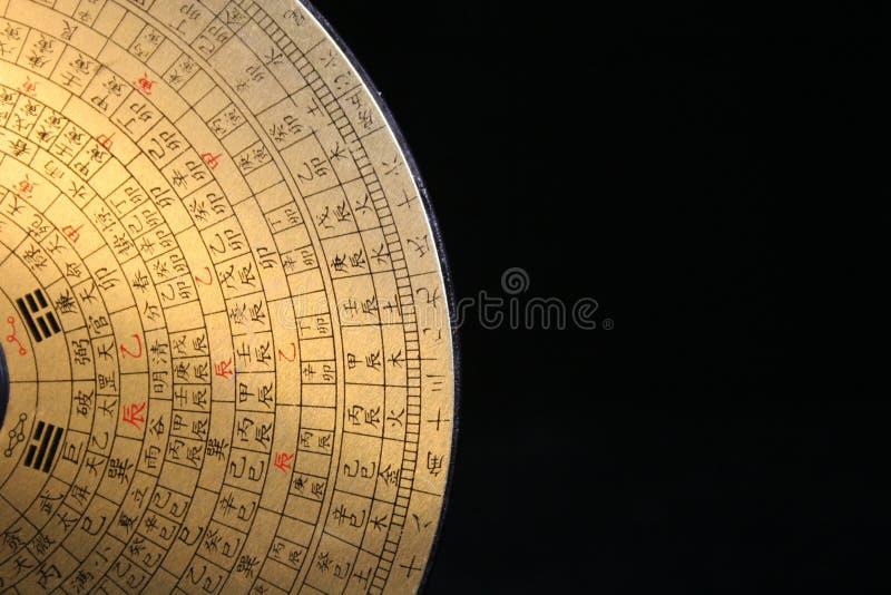 Compasso de Feng Shui imagem de stock