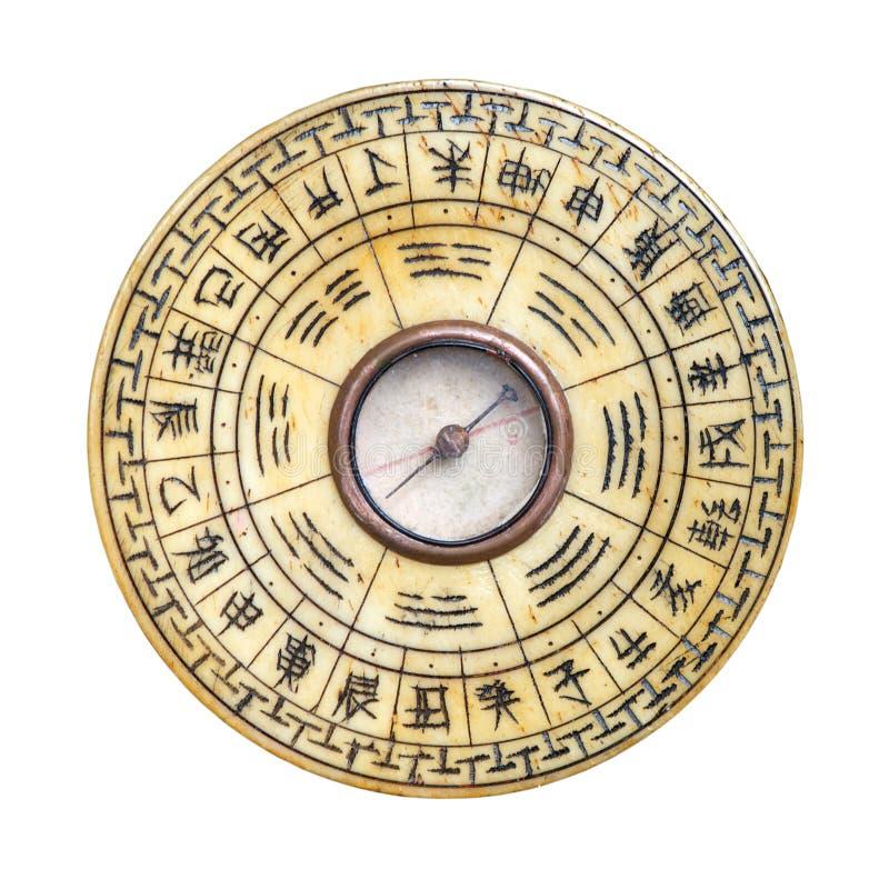 Compasso de Feng Shui isolado fotos de stock royalty free