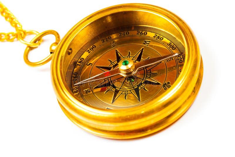 Compasso do bronze do estilo velho fotografia de stock royalty free