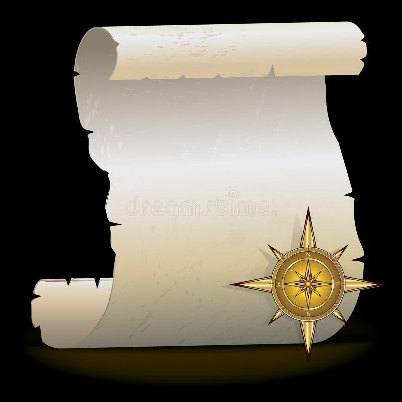 Compasso do ouro ilustração stock