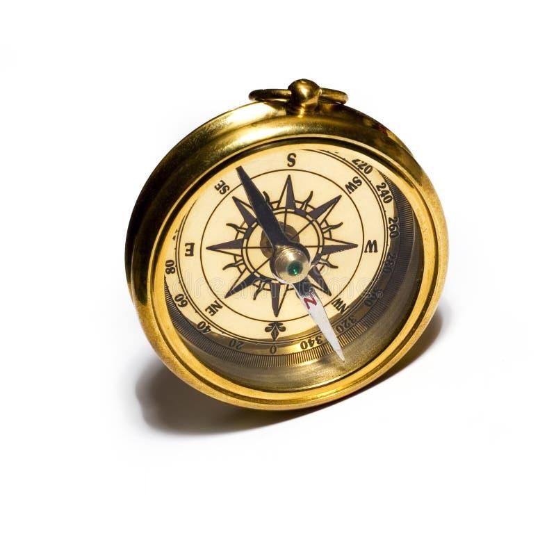 Compasso do ouro do estilo velho fotos de stock royalty free
