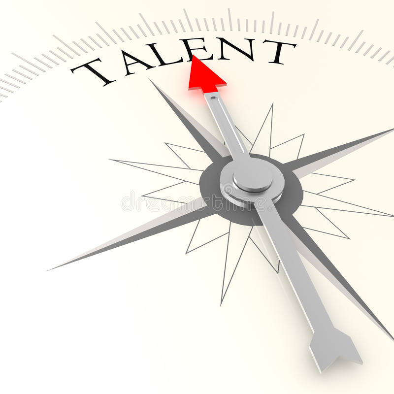 Compasso do talento ilustração stock