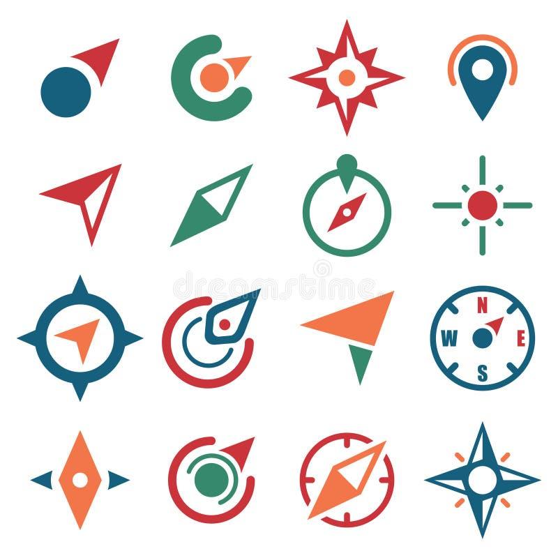 Compasso Logo Symbol Icon para encontrar e encontrar o grupo do sentido ilustração do vetor