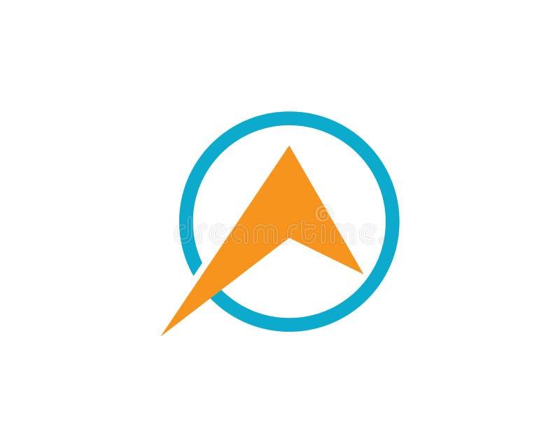 Compasso Logo Template ilustração royalty free