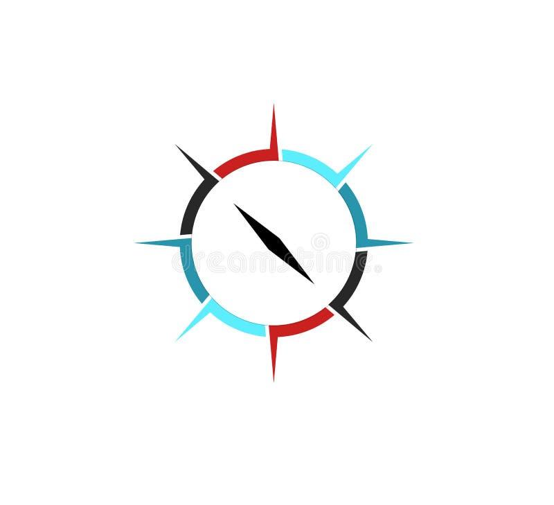 Compasso Logo Template Lugar, navegador ilustração stock