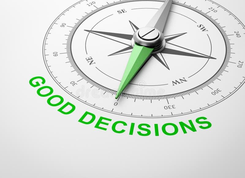 Compasso no fundo branco, bom conceito das decisões ilustração do vetor