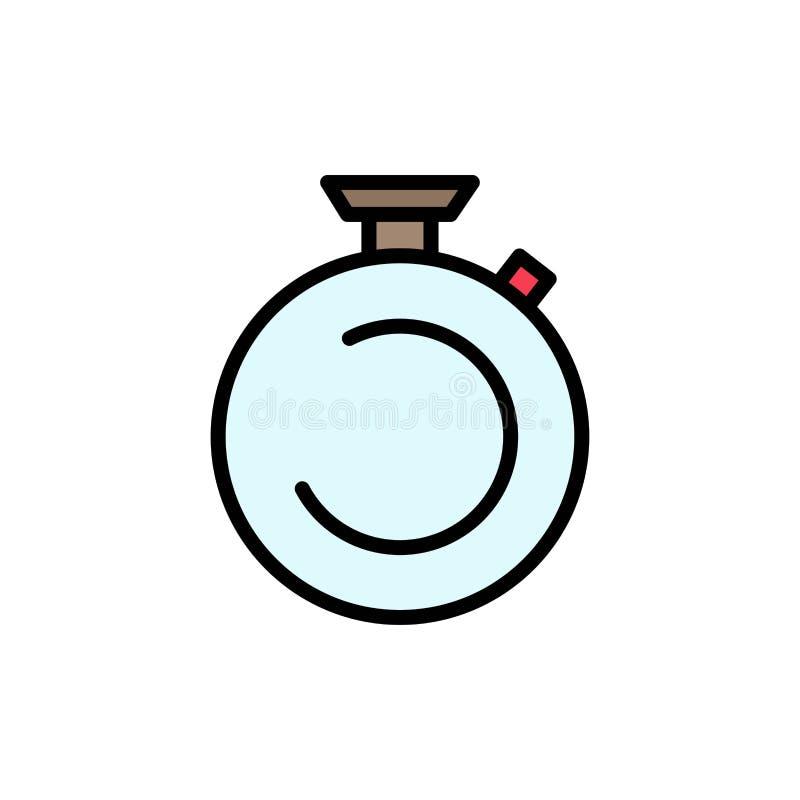 Compasso, pulso de disparo, cronômetro, temporizador, ícone liso da cor do relógio Molde da bandeira do ícone do vetor ilustração do vetor