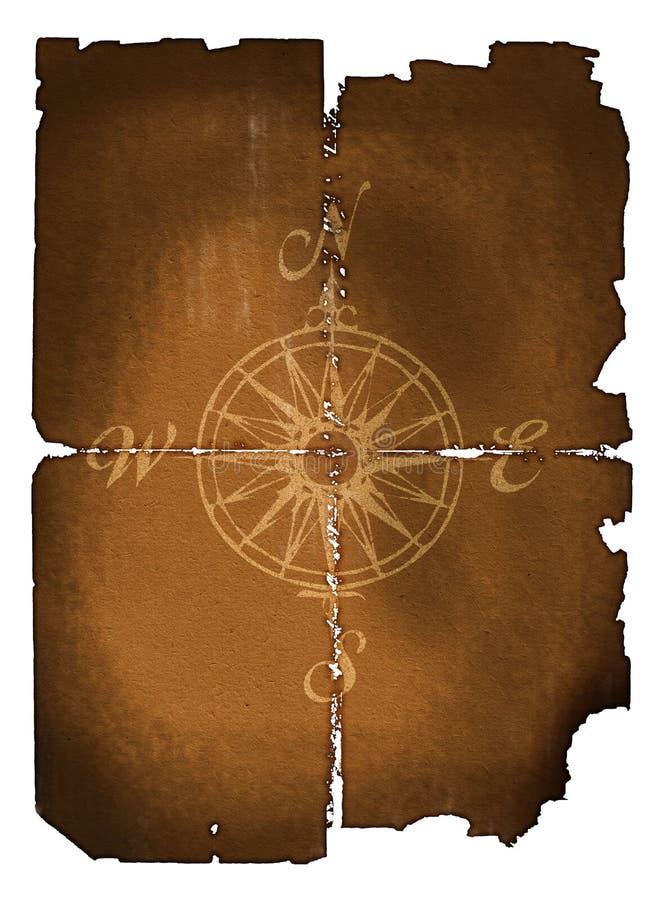 Compasso velho ilustração royalty free