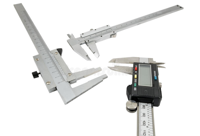 Compassos de calibre vernier imagem de stock