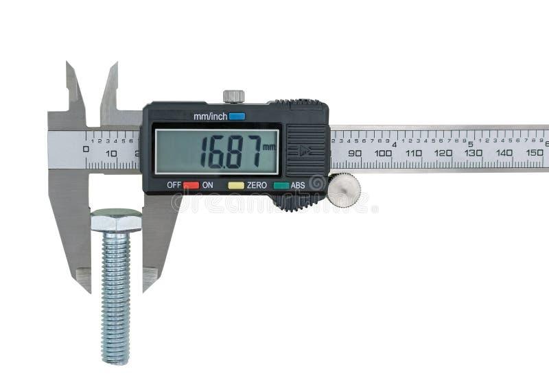 Compassos de calibre vernier e parafuso-parafuso fotos de stock