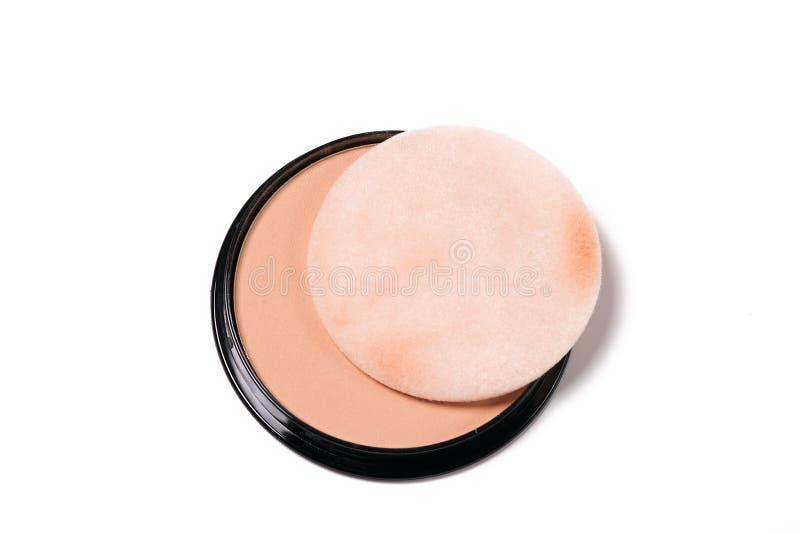 Compatto di polvere cosmetico immagine stock libera da diritti