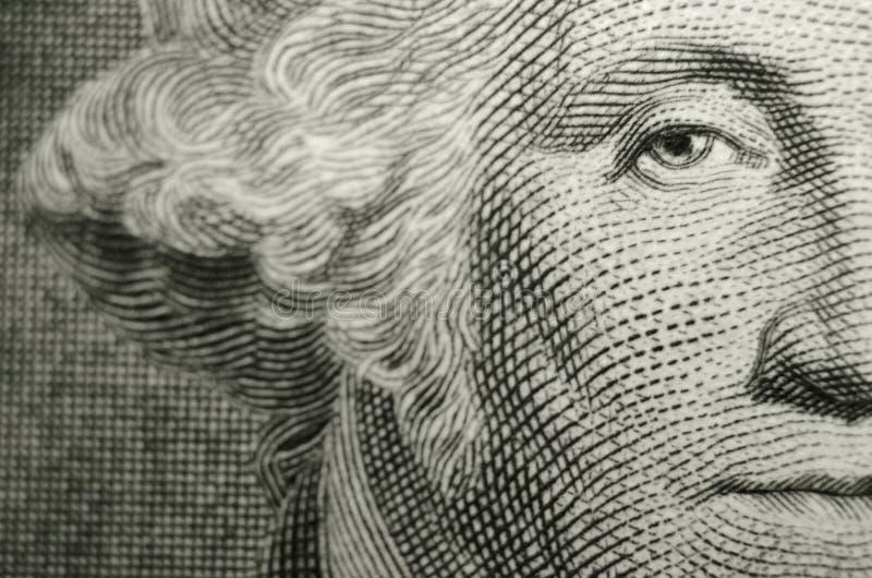 Compensatiesamenstelling die het oog van freemason, oprichtende vader, George Washington kenmerken royalty-vrije illustratie