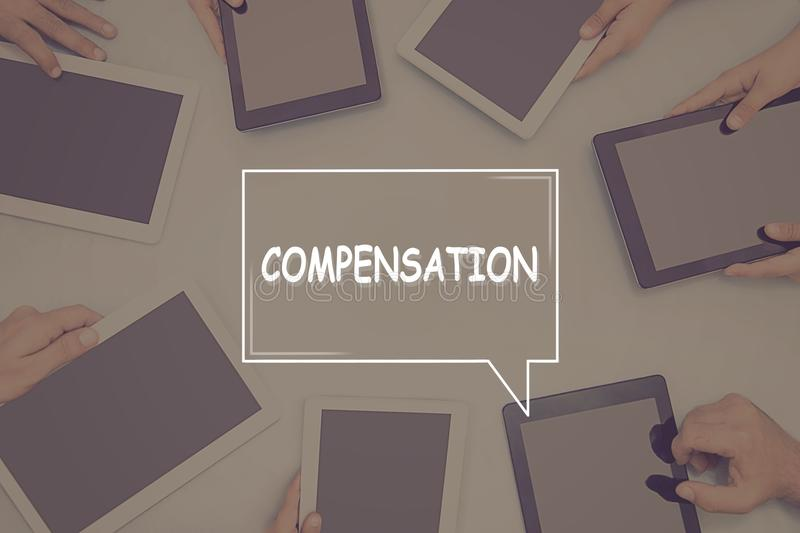 COMPENSATION CONCEPT Business Concept. Business text Concept royalty free stock photography
