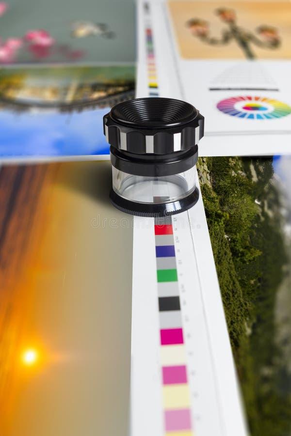Compense a la gestión de color de la prensa fotografía de archivo