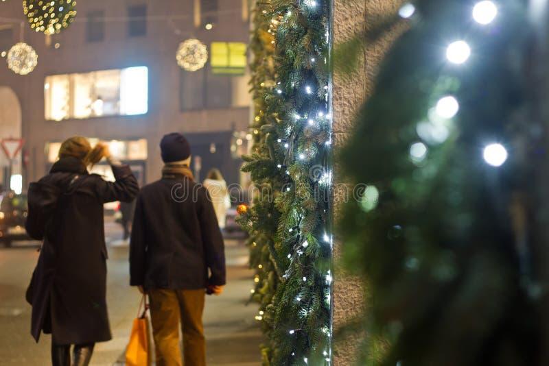 Compera di Natale fotografie stock libere da diritti