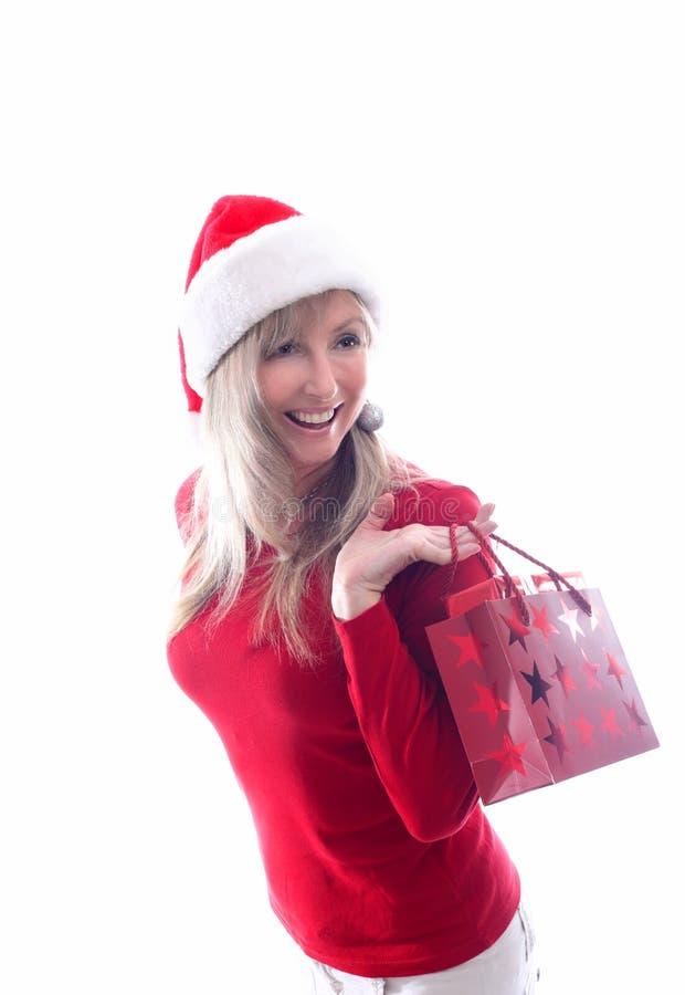Compera di Natale della donna fotografie stock libere da diritti
