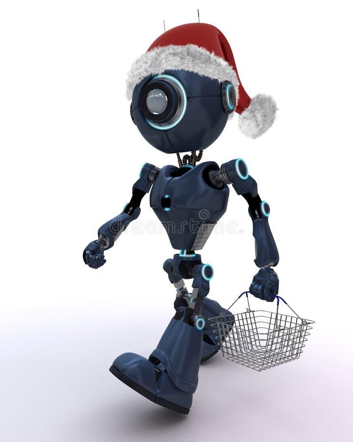 Compera di Natale di androide royalty illustrazione gratis