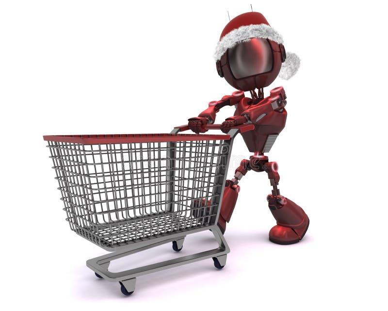 Compera di Natale di androide illustrazione vettoriale