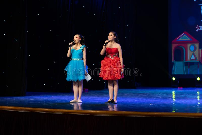 Compere-Dance special. In June 13, 2018, dance dancers from all over the country performed at Jiangxi Vocational Academy of Art, competing for excellent royalty free stock photo
