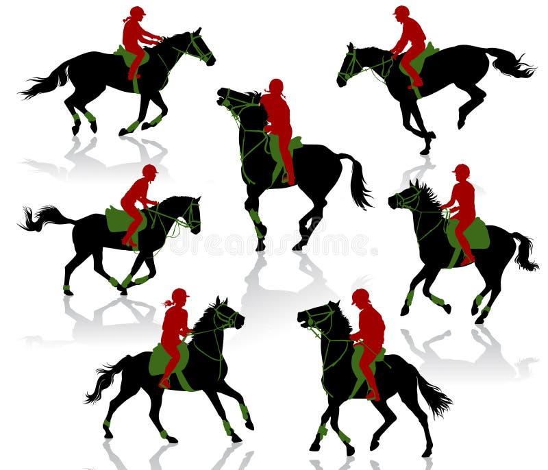 comperition koń royalty ilustracja