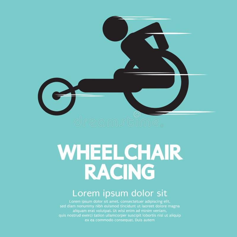 Competência da cadeira de rodas ilustração royalty free