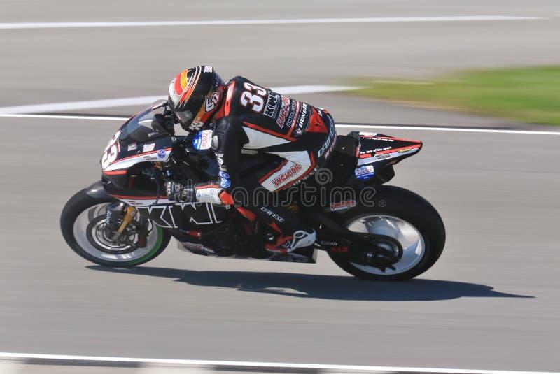 Competência da motocicleta de SportBike pro fotografia de stock