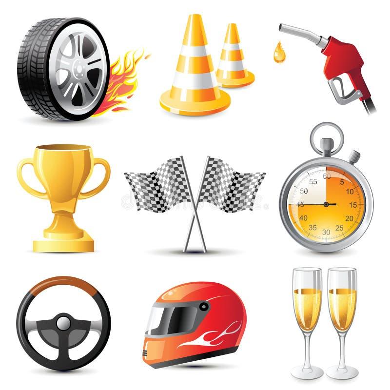 Competência de carro ilustração royalty free