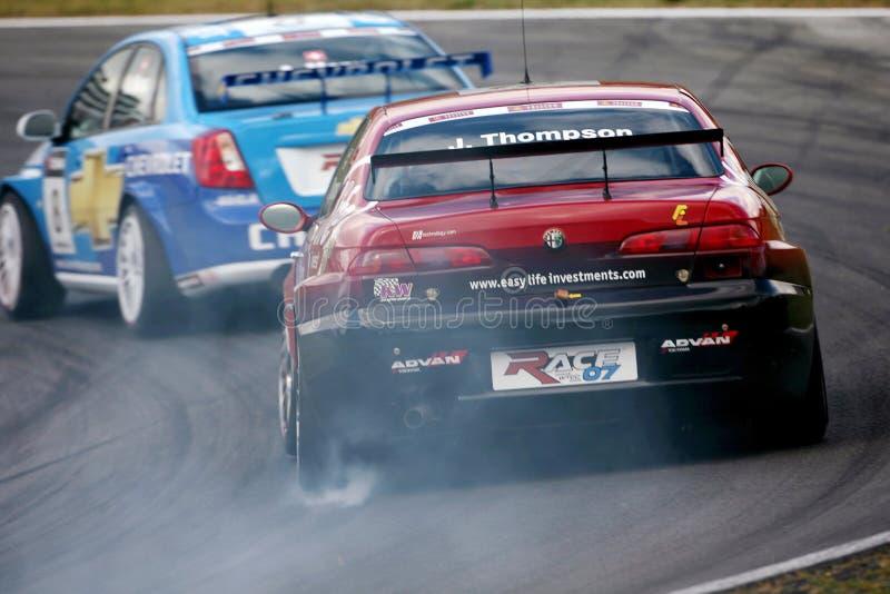 Competência de carro (Alfa Romeo 156, FIA WTCC) fotografia de stock royalty free