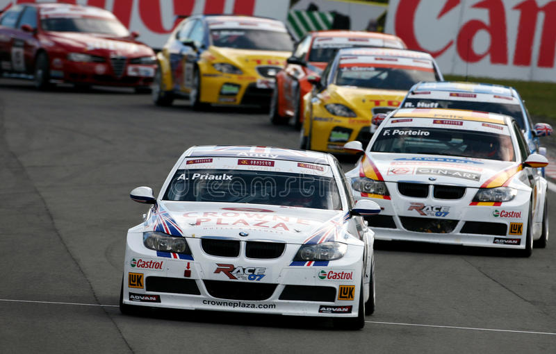 Competência de carro (BMW 320si, FIA WTCC) imagens de stock