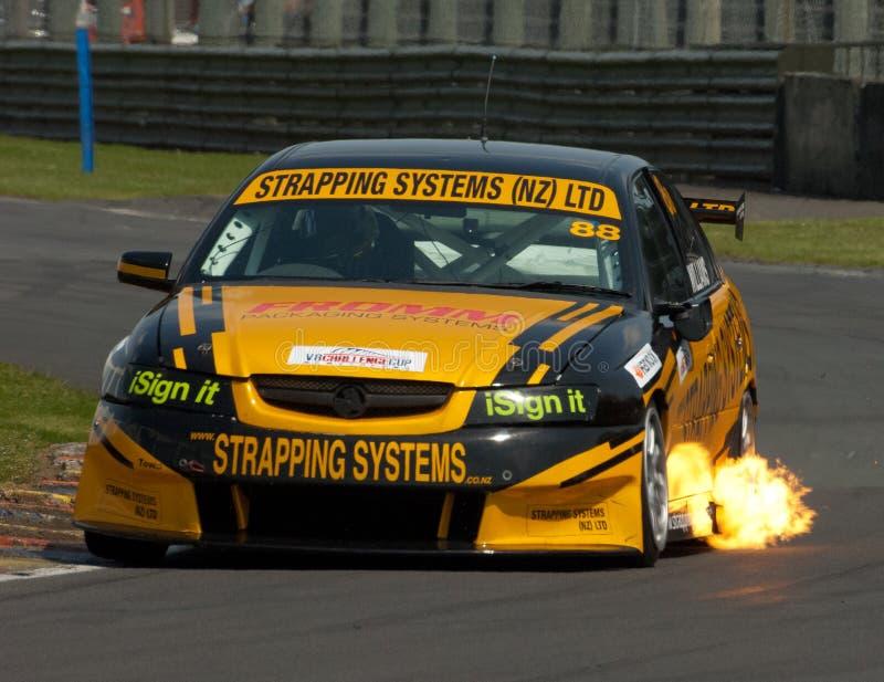 Competência de carro de Supertourers V8 fotografia de stock royalty free