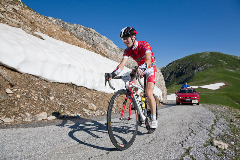 Competência de estrada da bicicleta foto de stock royalty free