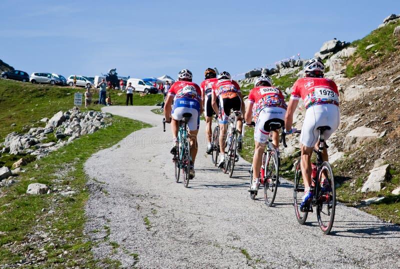 Competência de estrada da bicicleta fotografia de stock royalty free