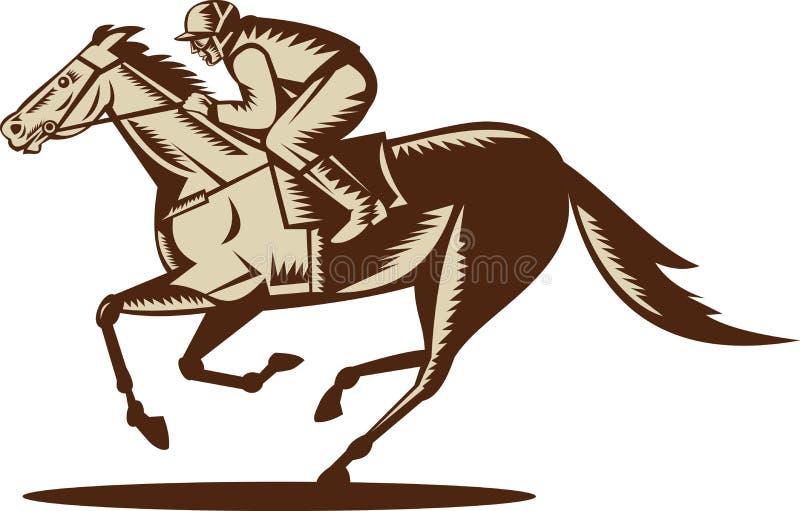 Competência do cavalo e do jóquei ilustração stock